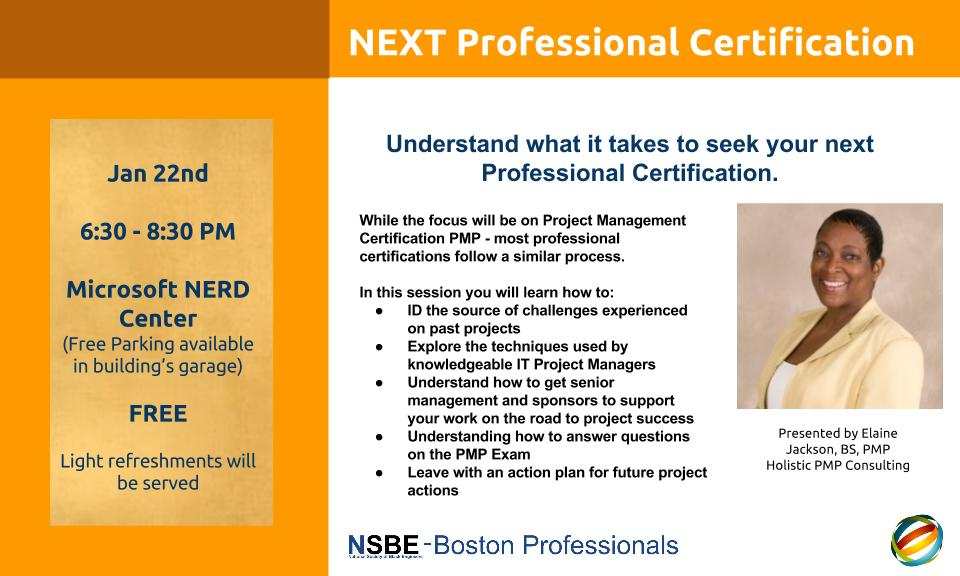 Next Professional Certification Nsbe Boston Professionals