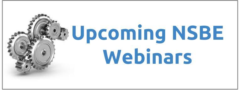 Upcoming NSBE webinars (1)