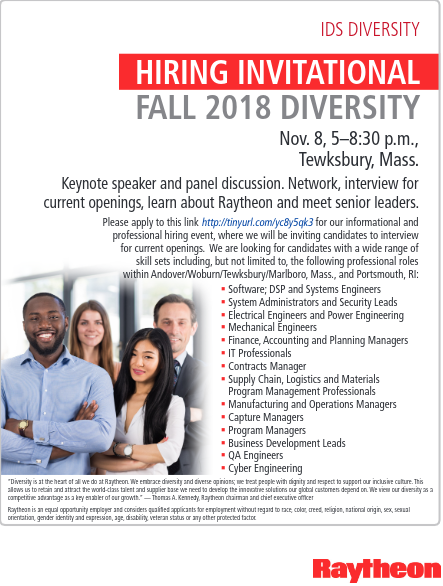 Raytheon Professional Diversity Hiring Event – NSBE Boston Professionals